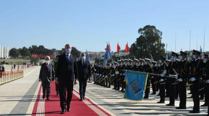 رئيس الجمهورية قيس سعيد يشرف على موكب إحياء الذكرى الثالثة والثمانين لعيد الشهداء